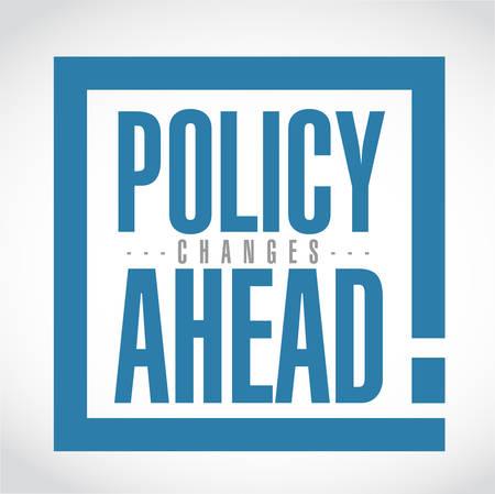La politica cambia in anticipo il messaggio di casella esclamativa isolato su uno sfondo bianco