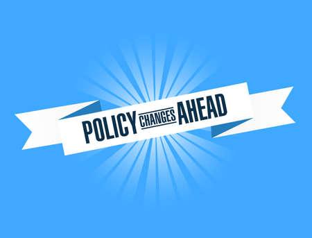 La politica cambia in anticipo messaggio nastro luminoso isolato su uno sfondo blu