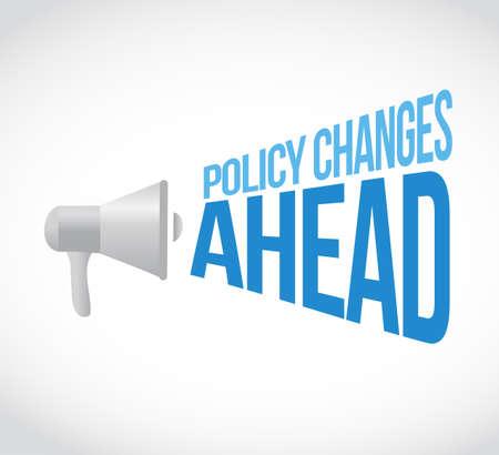 Les changements de politique à venir concept de message de haut-parleur isolé sur fond blanc Vecteurs