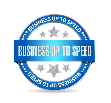 Business up to speed seal illustration isolated over a white background
