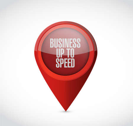 Business up to speed point locator isolated over a white background 向量圖像