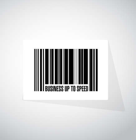 Business up to speed barcode sign concept illustration isolated over a white background Stock Illustratie