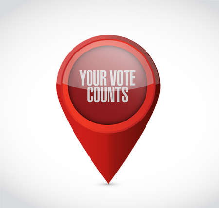 Your vote counts Pointer message concept illustration isolated over a white background