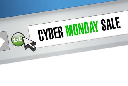 Cyber Monday Sale Web browser message concept illustration design background  イラスト・ベクター素材
