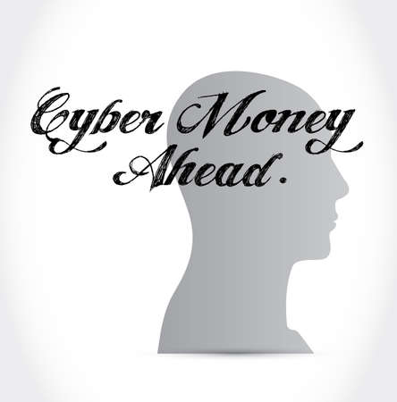 Cyber Monday Sale thinking concept illustration isolated over a white background