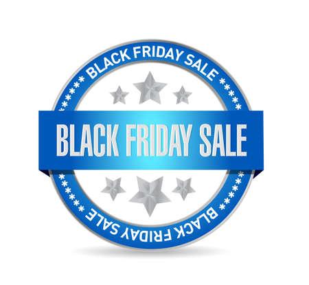 Black Friday sale Seal stamp message concept illustration design background