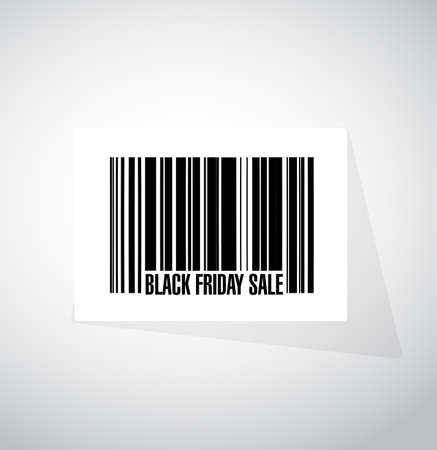 Black Friday sale barcode message concept illustration design background