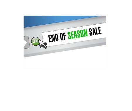 End of season sale, Web browser message concept illustration design background