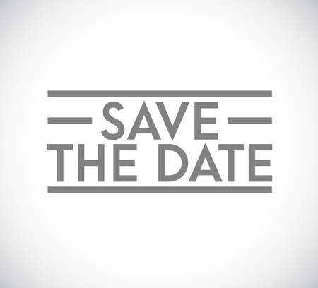Save the date stamp concept. infographic illustration. white Background Ilustrace