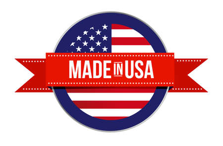 Made in USA sign seal. America illustration isolated over a white background