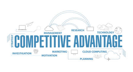 competitive advantages diagram illustration isolated over a white background