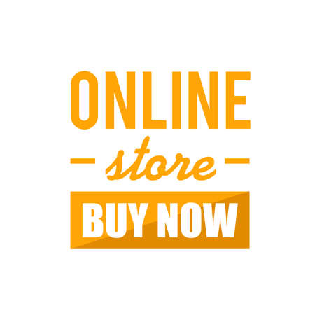 online store buy now sign concept illustration over a white background Illustration
