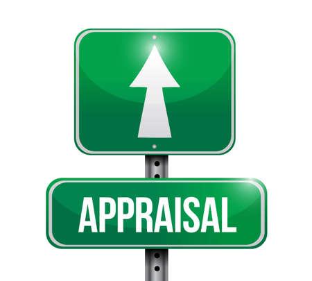 appraisal street sign illustration design over a white background Foto de archivo - 124106612