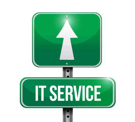 it service street sign illustration design over a white background