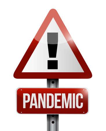 Pandemic sign illustration design isolated over white