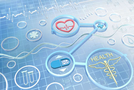 technology trends: Medicine abstract background . 3D render image
