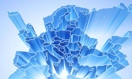 Europe abstract 3D background  photo