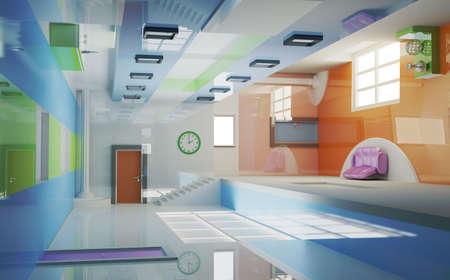 Futuristic interior . Multi gravitation. Stock Photo - 8170078