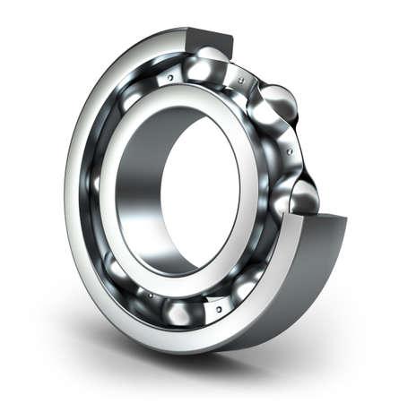 Detailed bearing design, isolated on white photo