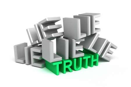 to lie: Truth onder lie , over white