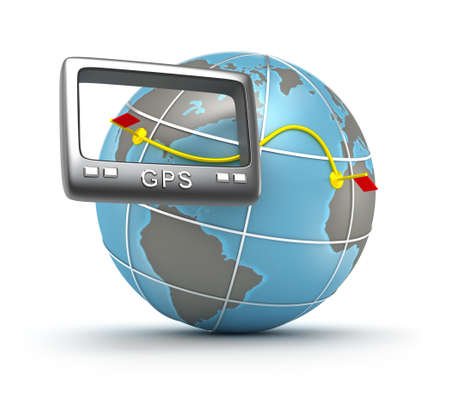 GPS world tracker 3D concept photo