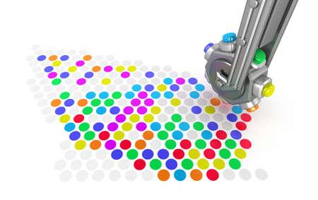 Printer make a picture closeup concept photo