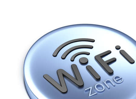 WiFi zone. 3D concept photo