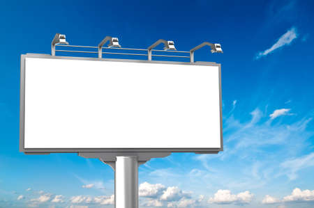 hoarding: Empty advertisement hoarding at sky background Stock Photo