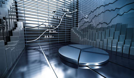 Stock market abstract background photo