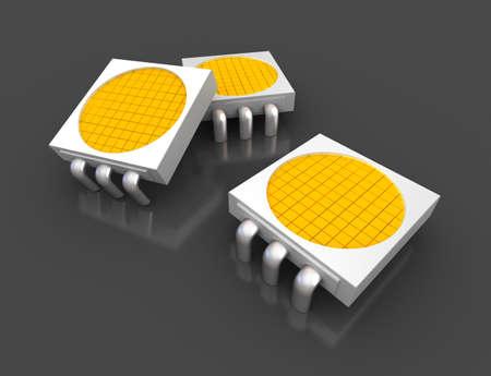 Led light lamp chips photo