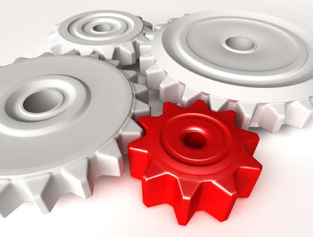 Abstract 3D concept of gear wheels photo