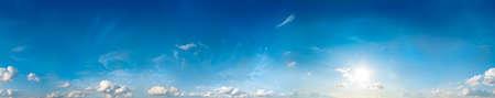 in clouds: Seamless cielo panorama a 360 gradi Archivio Fotografico
