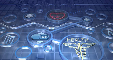 medical technology: Medicine abstract background Stock Photo