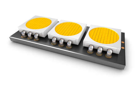 module: Led light lamp chips over white