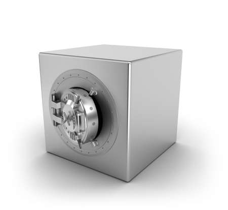 Bank safe over white Stock Photo - 13235921