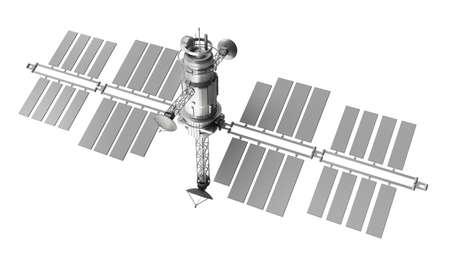 satellite isolated over white background photo