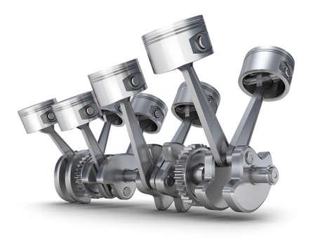 Motor V8 pistones imagen 3D Foto de archivo - 13235918