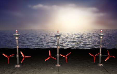 production of energy: Tidal energy illustration