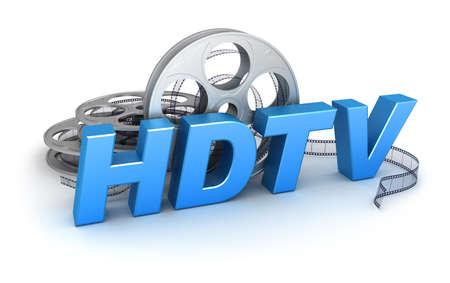 full hd: HDTV Video  Concept icon Stock Photo