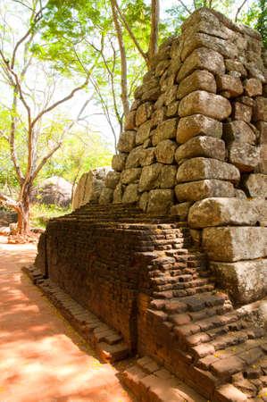 Sigiriya - ancient palace ruin in the central Sri Lanka photo