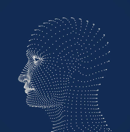 Human head dots model photo
