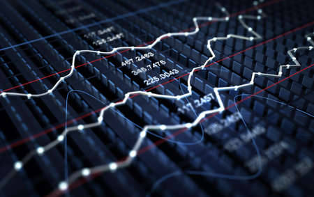 Stock market graph background photo