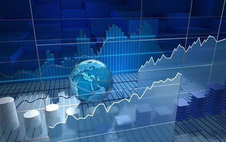 analyse: Bourse bord, fond abstrait