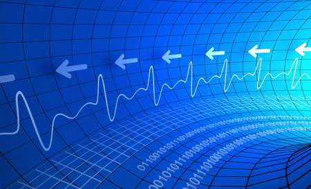 medische kunst: Digitale hartslagmeter abstracte achtergrond Stockfoto