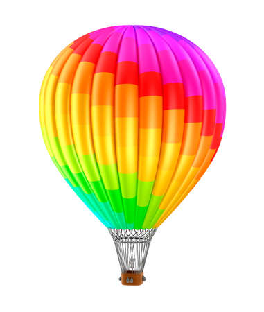 Colorfull balloon isolated on white background photo