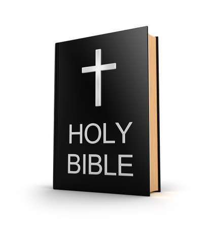 bible book: Holy bible  Book with cross isolated on white Stock Photo