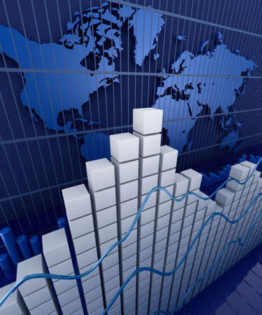 annual: Financial graph statistic  Business stat background Stock Photo