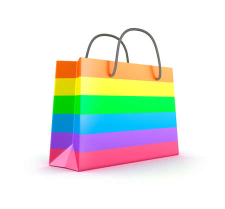 Colorful shopping bag  Isolated on white Stock Photo - 17403563