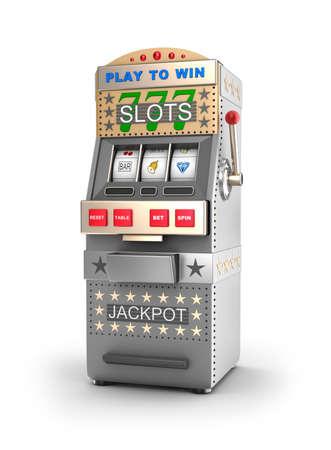 slot machine: A slot machine, gamble machine