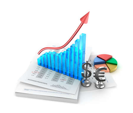 Business analysis  Charts and growth graph photo